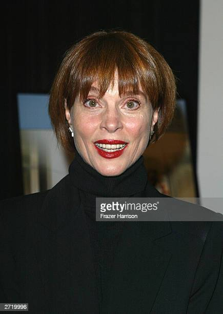 Actress Leigh TaylorYoung arrives for the American Film Institute Festival Tribute to Omar Sharif held at the Arclight Theatre on November 11 2003 in...