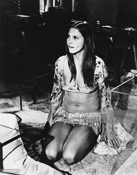 Actress Leigh TaylorYoung wearing 'hippy' clothing for a photoshoot April 2nd 1968