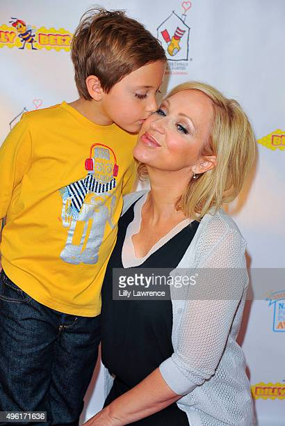 Actress LeighAllyn Baker and son Griffin Kauffman attend The Celebrity StuffAThon benefiting Ronald McDonald House on November 7 2015 in Los Angeles...