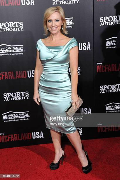 Actress LeighAllyn Baker arrives at the world premiere of 'McFarland USA' at the El Capitan Theatre on February 9 2015 in Hollywood California