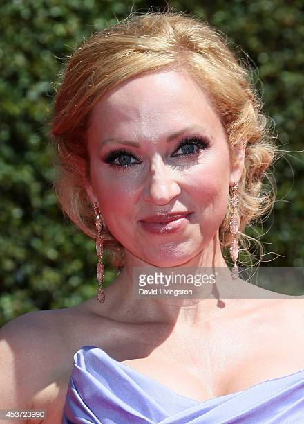 Actress LeighAllyn Baker attends the 2014 Creative Arts Emmy Awards at the Nokia Theatre LA Live on August 16 2014 in Los Angeles California