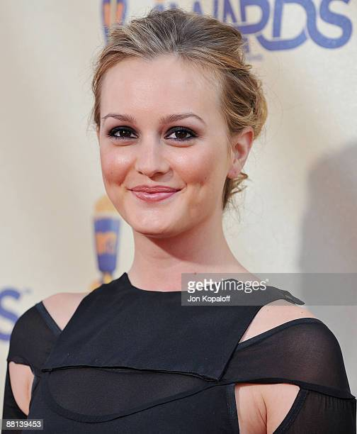 Actress Leighton Meester arrives at the 2009 MTV Movie Awards Arrivals at the Gibson Amphitheatre on May 31 2009 in Universal City California