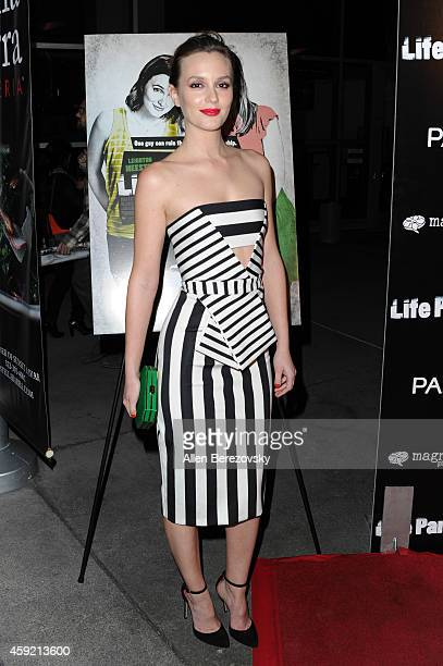 Actress Leighton Meester arrives at the Los Angeles Premiere of Life Partners at ArcLight Hollywood on November 18 2014 in Hollywood California