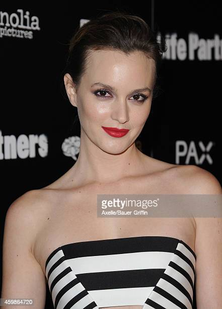 Actress Leighton Meester arrives at the Los Angeles premiere of 'Life Partners' at ArcLight Hollywood on November 18 2014 in Hollywood California