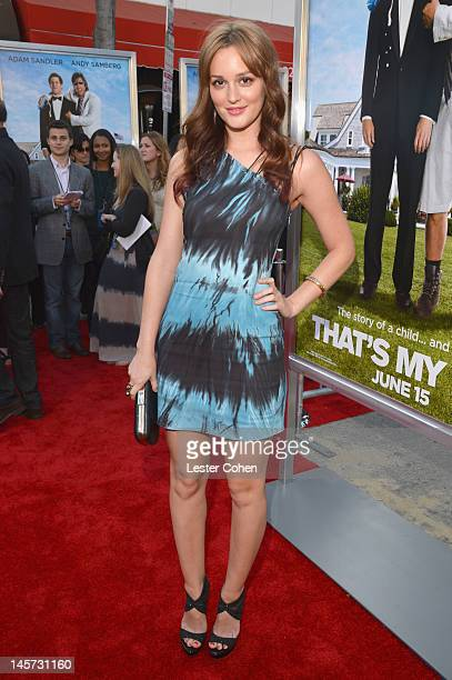 Actress Leighton Meester arrives at the Los Angeles premiere of 'That's My Boy' held at Regency Village Theatre Westwood on June 4 2012 in Westwood...
