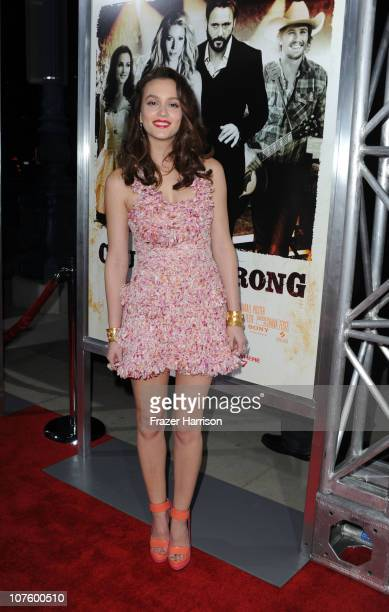 Actress Leighton Meester arrives at the screening of Screen Gems' 'Country Strong' at The Academy of Motion Picture Arts Sciences on December 14 2010...