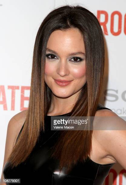 Actress Leighton Meester arrives at the Screening Of Screen Gems' 'The Roommate' on January 23 2011 in West Hollywood California