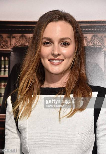 Actress Leighton Meester arrives for the Warner Bros Pictures and Village Roadshow Pictures' Premiere of 'the Judge' at AMPAS Samuel Goldwyn Theater...