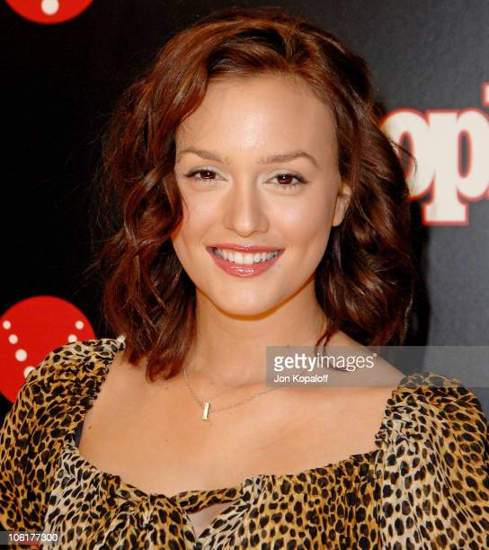 Actress Leighton Meester arrives to the Verizon Wireless People Magazine's PreGrammy Party at Avalon Hollywood on February 8 2008 in Hollywood...