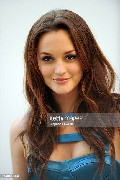 Actress Leighton Meester attends Fashion's Night Out The Show at Lincoln Center on September 7 2010 in New York City