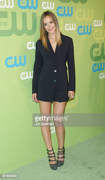 Actress Leighton Meester attends the 2009 The CW Network UpFront at Madison Square Garden on May 21 2009 in New York City