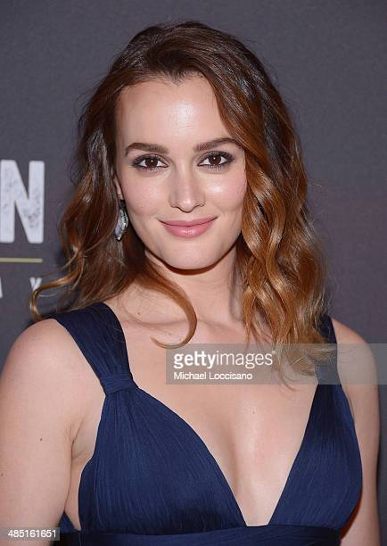 Actress Leighton Meester attends the after party for the Broadway opening night for Of Mice and Men at The Plaza Hotel on April 16 2014 in New York...