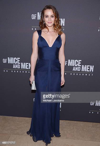 Actress Leighton Meester attends the after party for the Broadway opening night for 'Of Mice and Men' at The Plaza Hotel on April 16 2014 in New York...