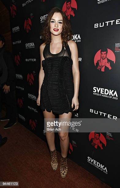 Actress Leighton Meester attends the album release party at Butter on December 15 2009 in New York City