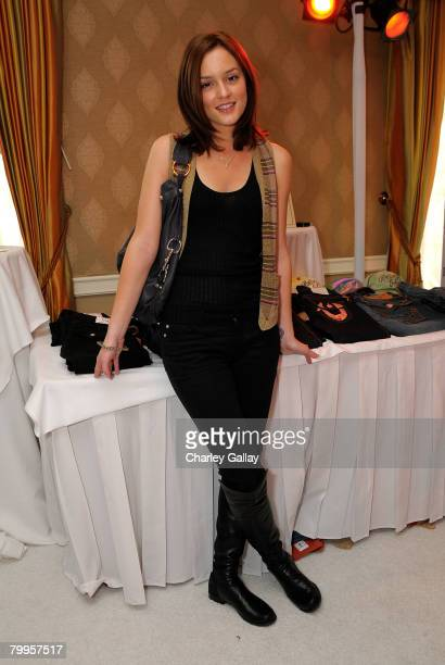 Actress Leighton Meester attends The Belvedere Luxury Lounge in honor of the 80th Academy Awards featuring True Religion Brand Jeans held at the Four...