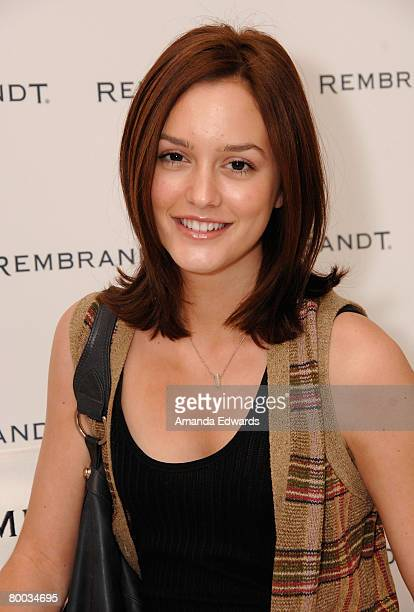 Actress Leighton Meester attends The Belvedere Luxury Lounge in honor of the 80th Academy Awards featuring Rembrandt held at the Four Seasons Hotel...