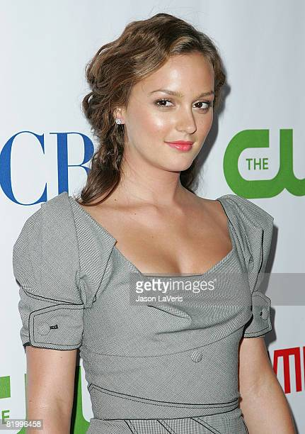Actress Leighton Meester attends the CBS CW Showtime Press Tour Stars Party at Boulevard3 on July 18 2008 in Hollywood California