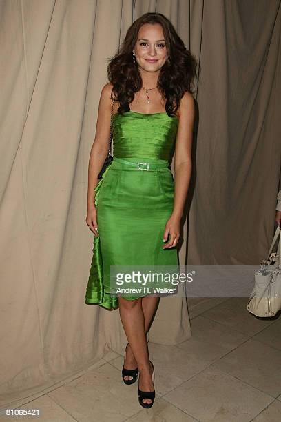 Actress Leighton Meester attends the Christian Dior Cruise 2009 Collection at Gustavino's in New York City