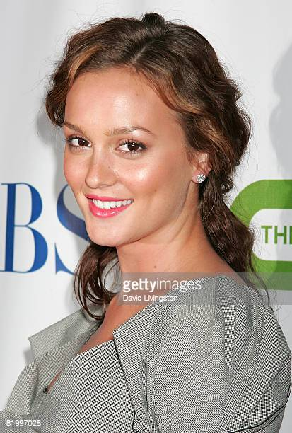Actress Leighton Meester attends the CW/CBS/Showtime/CBS Television TCA party at Boulevard3 on July 18 2008 in Hollywood California