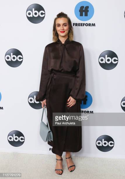 Actress Leighton Meester attends the Disney and ABC Television 2019 TCA Winter press tour at The Langham Huntington Hotel and Spa on February 05 2019...