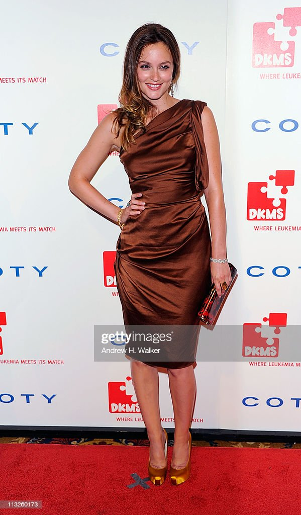 Actress Leighton Meester attends the DKMS' 5th Annual Gala: Linked Against Leukemia honoring Rihanna & Michael Clinton hosted by Katharina Harf at Cipriani Wall Street on April 28, 2011 in New York City.
