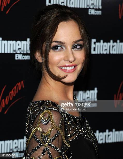 Actress Leighton Meester attends the Entertainment Weekly Vavoom Annual Upfront Party at the Bowery Hotel on May 13 2008 in New York City