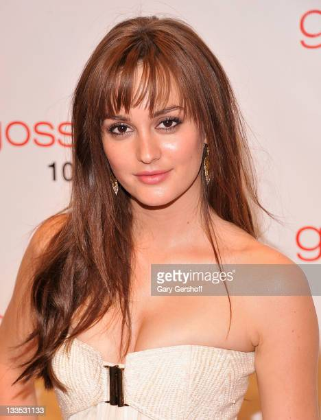 Actress Leighton Meester attends the 'Gossip Girl' 100 episode celebration at Cipriani Wall Street on November 19 2011 in New York City