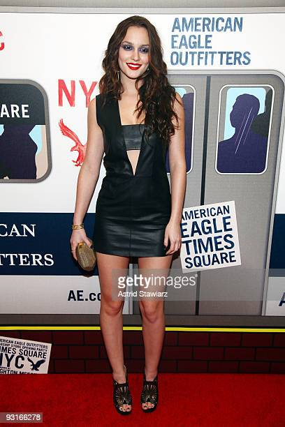 Actress Leighton Meester attends the grand opening celebration at American Eagle Outfitters Times Square on November 17 2009 in New York City