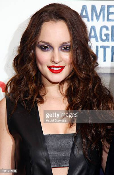 Actress Leighton Meester attends the grand opening celebration at American Eagle Outfitters, Times Square on November 17, 2009 in New York City.