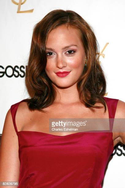 "Actress Leighton Meester attends the Henri Bendel and YSL Beaute's celebration of the new season of ""Gossip Girl"" at Henri Bendel on August 24, 2008..."