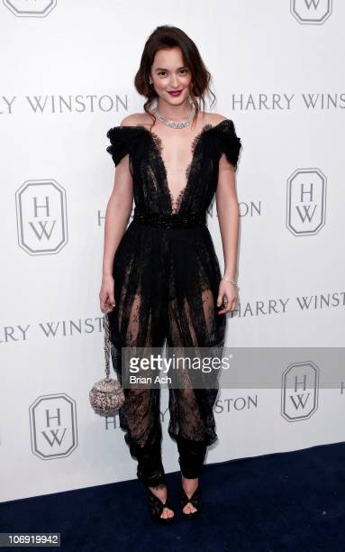 Actress Leighton Meester attends the launch of the Court of Jewels recreation at Harry Winston on November 16, 2010 in New York City.