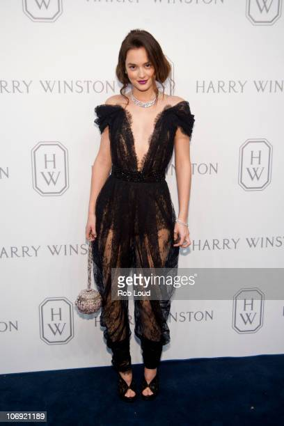 Actress Leighton Meester attends the launch of the Court of Jewels recreation at Harry Winston on November 16 2010 in New York City