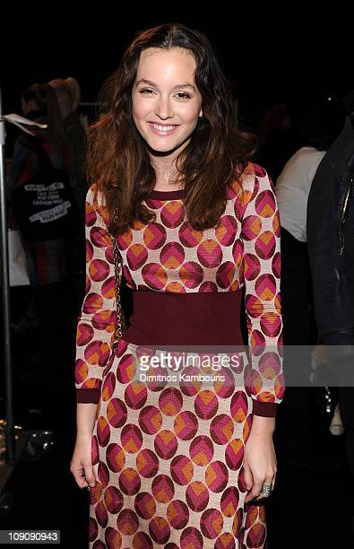 Actress Leighton Meester attends the Marc Jacobs Fall 2011 Collection at N.Y. State Armory on February 14, 2011 in New York City.