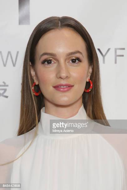 Actress Leighton Meester attends the Naersi fashion show during New York Fashion Week The Shows at American Museum of Natural History on September 10...