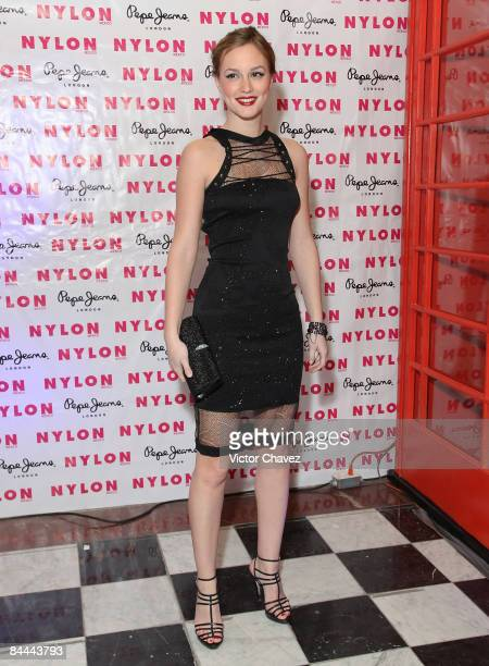 Actress Leighton Meester attends the Nylon Mexico magazine launch cocktail party on January 24 2009 in Mexico City