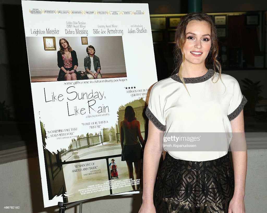 Actress Leighton Meester attends the premiere of Monterey Media's 'Like Sunday, Like Rain' at Laemmle's Town Center 5 on March 18, 2015 in Encino, California.
