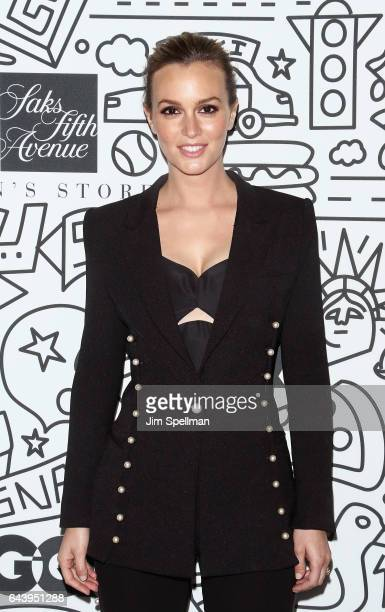 Actress Leighton Meester attends the Saks Downtown Men's opening at Saks Downtown Men's on February 22 2017 in New York City