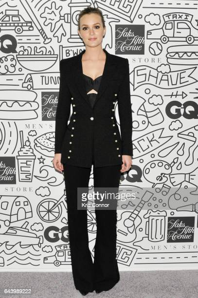 Actress Leighton Meester attends the Saks Downtown Men's opening on February 22 2017 in New York City