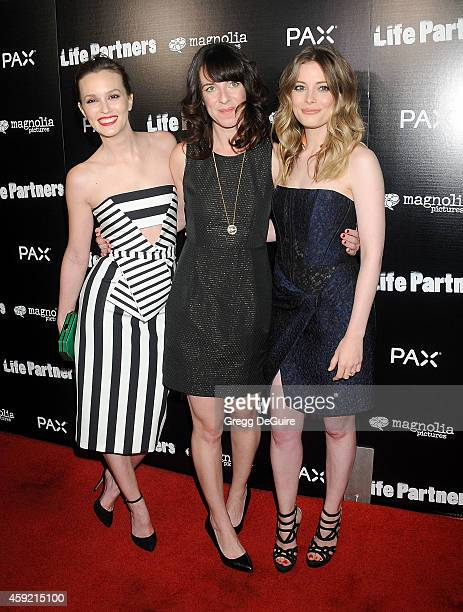Actress Leighton Meester director Susanna Fogel and actress Gillian Jacobs arrive at the Los Angeles premiere of 'Life Partners' at ArcLight...