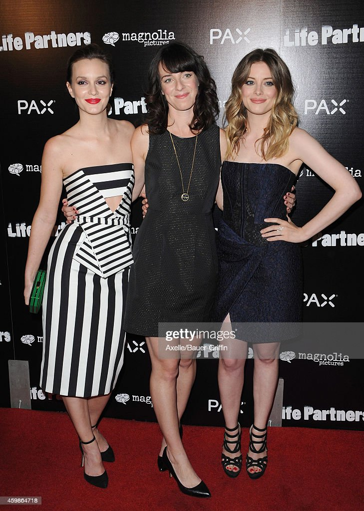 Actress Leighton Meester, director Susanna Fogel and actress Gillian Jacobs arrive at the Los Angeles premiere of 'Life Partners' at ArcLight Hollywood on November 18, 2014 in Hollywood, California.