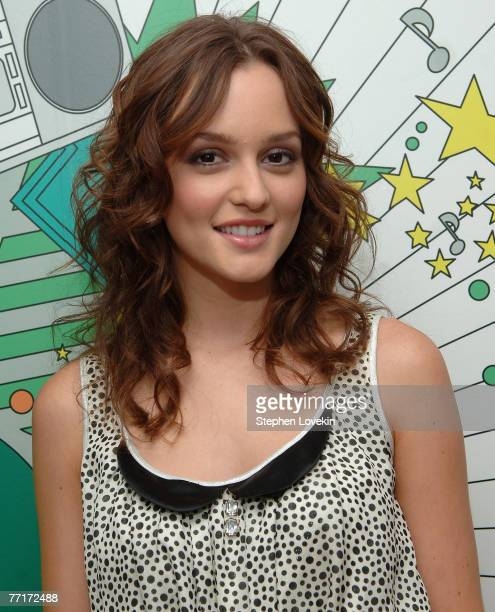Actress Leighton Meester from 'Gossip Girl' at MTV's TRL in New York City on October 1st 2007