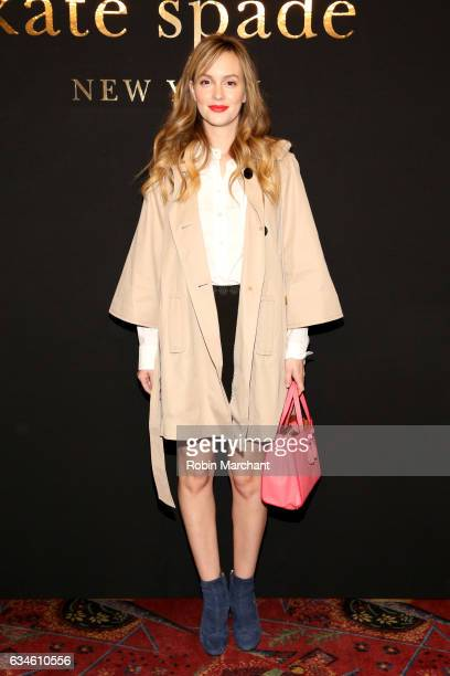 Actress Leighton Meester poses at kate spade new york Spring 2017 Fashion Presentation at Russian Tea Room on February 10 2017 in New York City