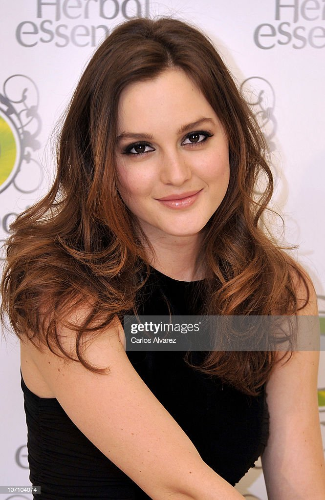 Actress Leighton Meester promotes 'Herbal Essences' at Hesperia Hotel on November 24, 2010 in Madrid, Spain.