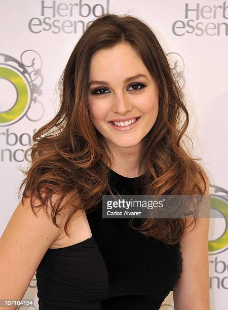 Actress Leighton Meester promotes Herbal Essences at Hesperia Hotel on November 24 2010 in Madrid Spain