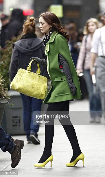 Actress Leighton Meester seen on the streets of Manhattan on March 10 2010 in New York City