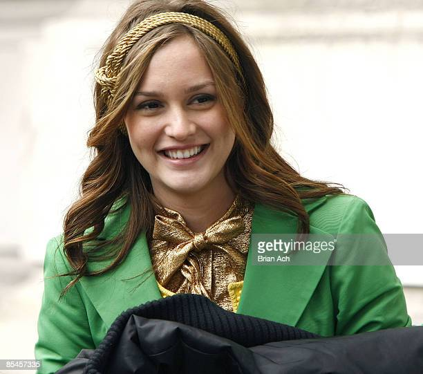 Actress Leighton Meester seen on the streets of Manhattan on March 16 2009 in New York City