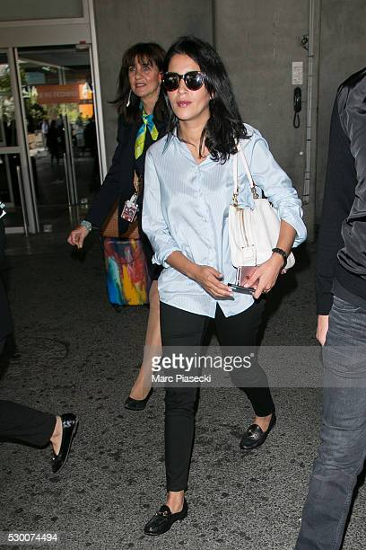 Actress Leila Bekhti arrives at Nice airport during the annual 69th Cannes Film Festival at Nice Airport on May 10 2016 in Nice France