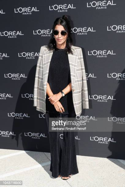 Actress Leila Bekhti attends Le Defile L'Oreal Paris as part of Paris Fashion Week Womenswear Spring/Summer 2019 on September 30 2018 in Paris France