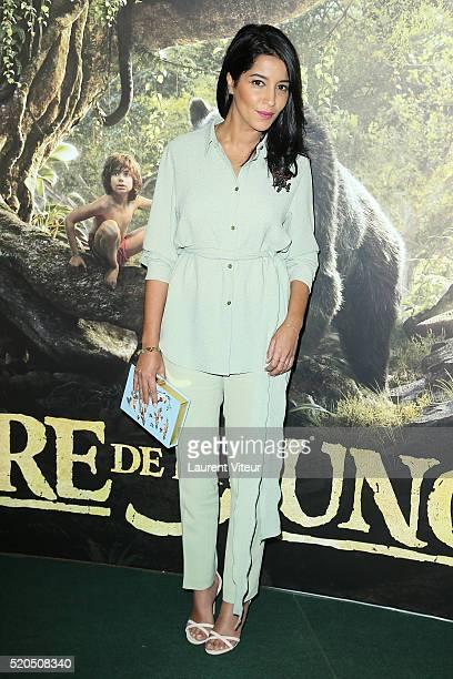 Actress Leila Bekhti attends Le Livre De La Jungle Paris Premiere at Cinema Pathe Beaugrenelle on April 11 2016 in Paris France