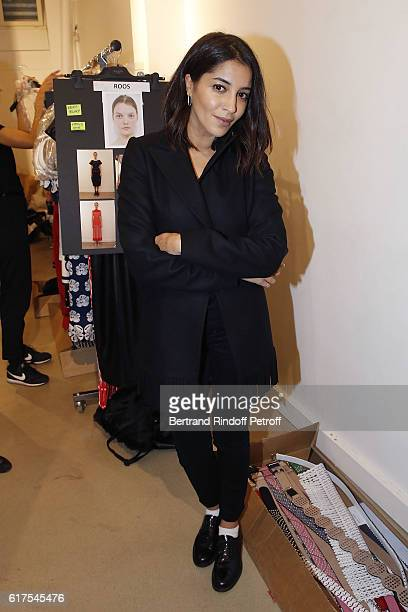 Actress Leila Bekhti attends the Azzedine Alaia Fashion Show at Azzedine Alaia Gallery on October 23 2016 in Paris France